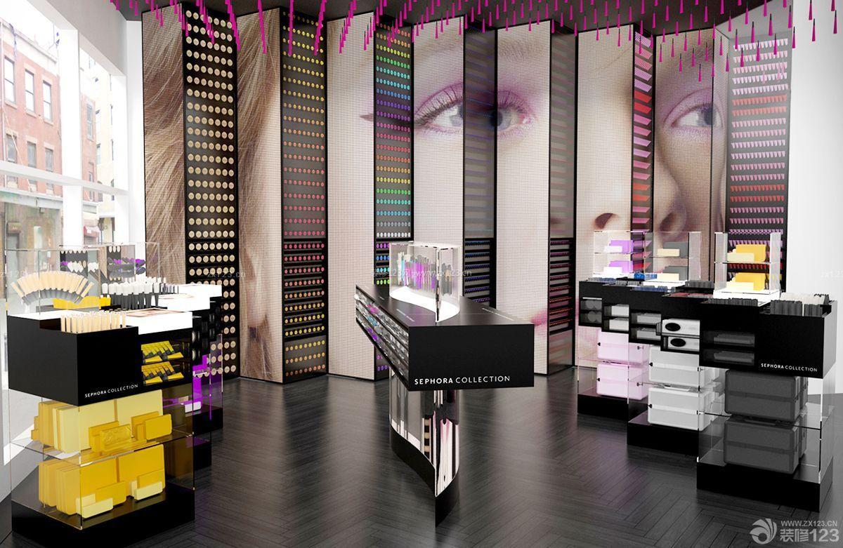 创意化妆品店背景墙设计图片大全