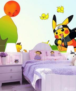 装饰可爱儿童房间墙绘设计图片