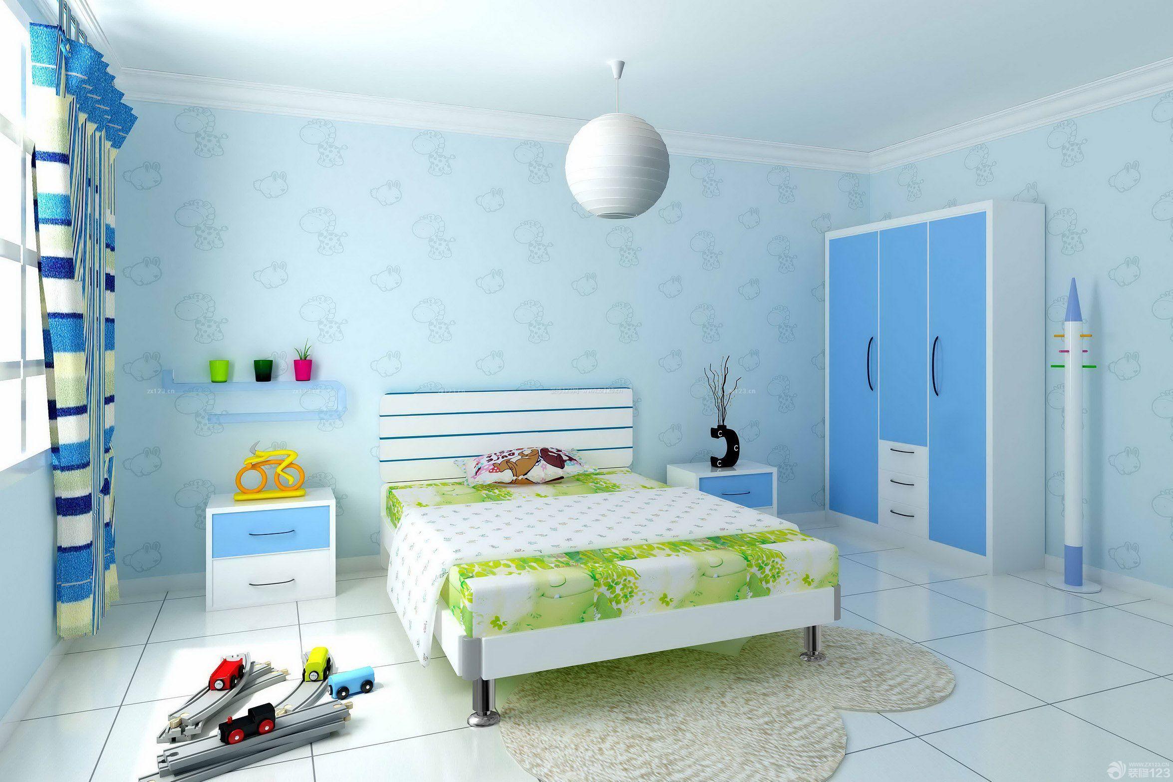 简约地中海风格100平米住宅儿童房装修图片