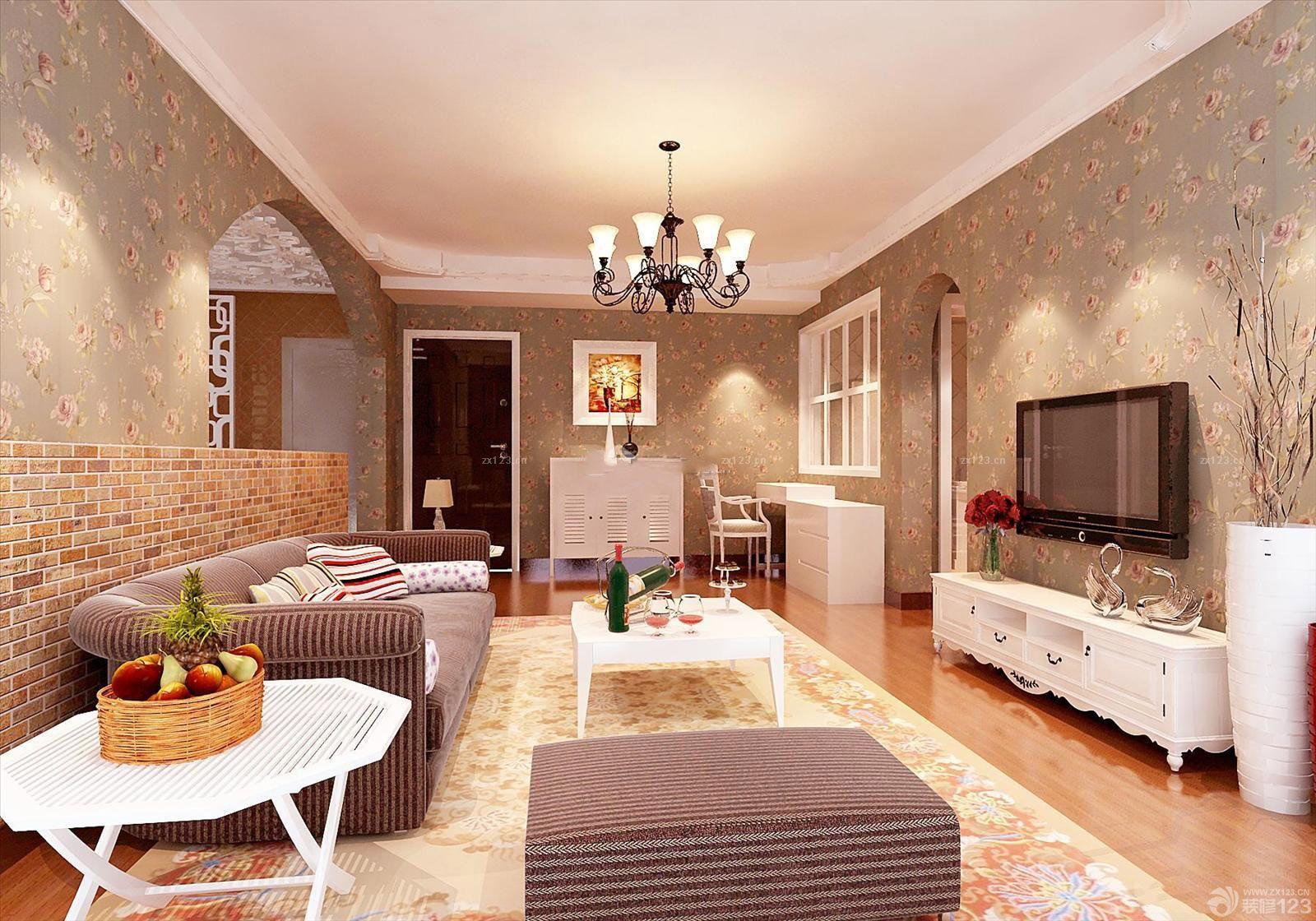 美式客厅个性门框包边室内装修效果图