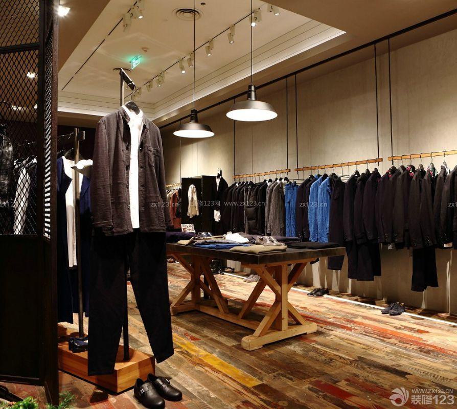 韩国服装店简约吊灯装修效果图片
