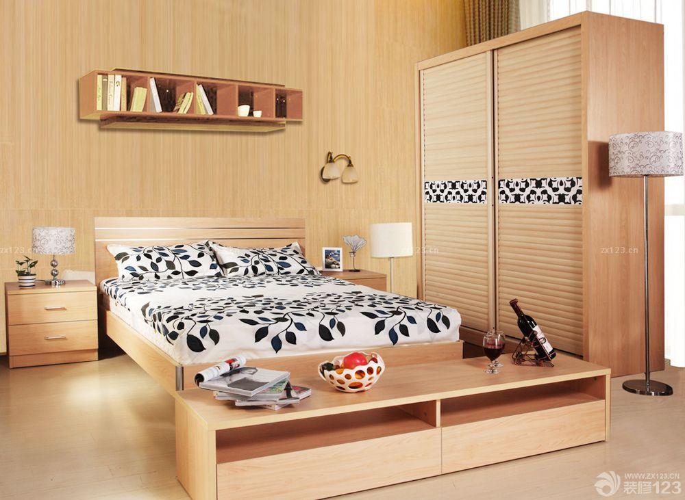 农村房子的卧室实木家具装修图