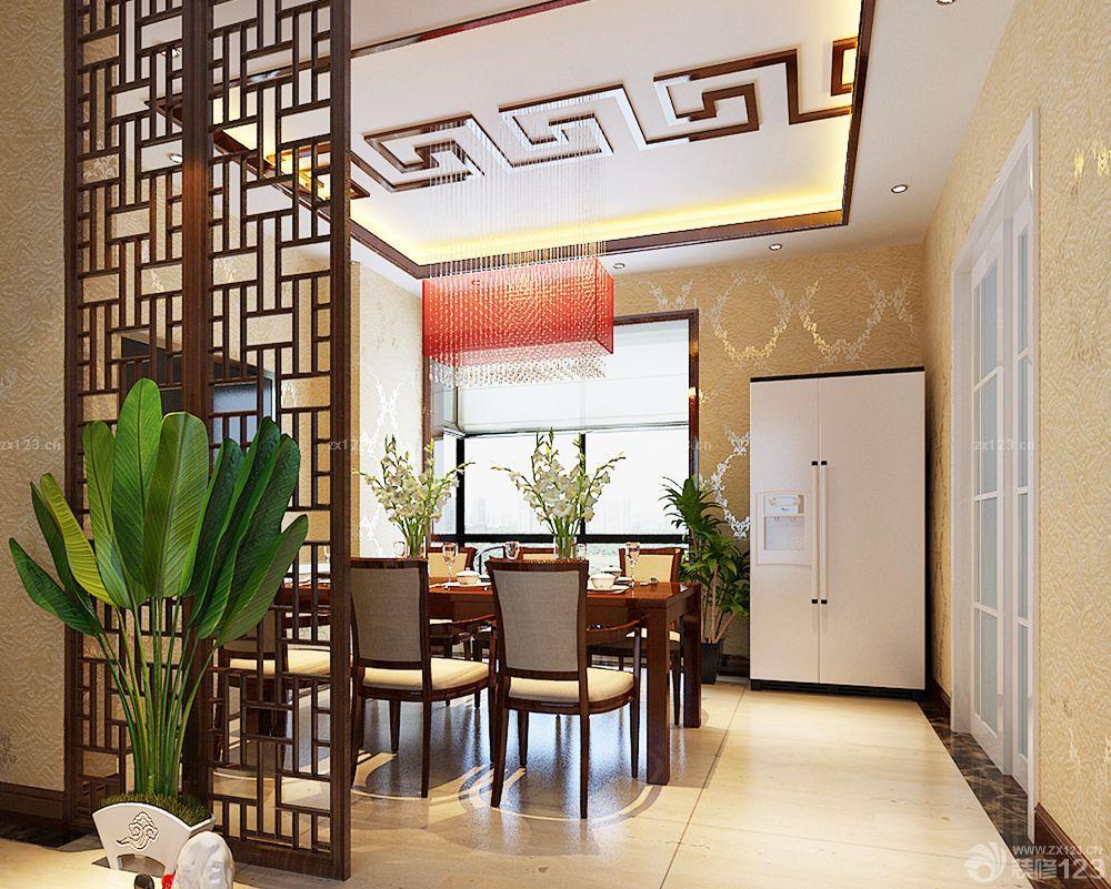 中式农村房子餐厅的装修效果图图片