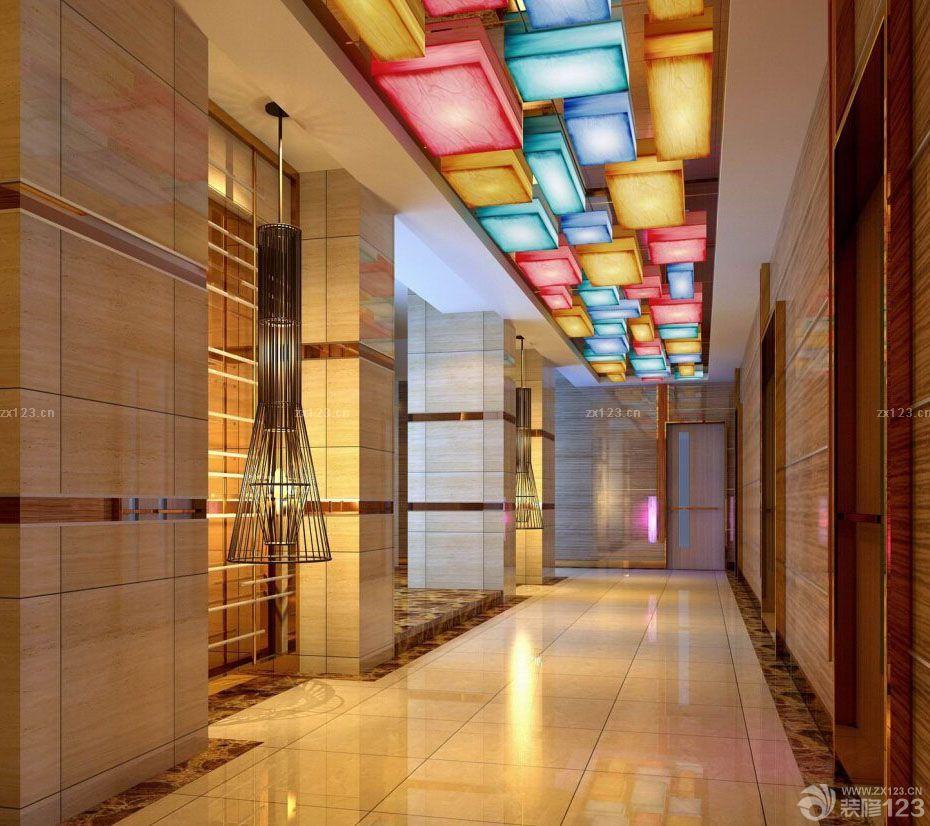 中式ktv大厅室内设计效果图片_装修123效果图