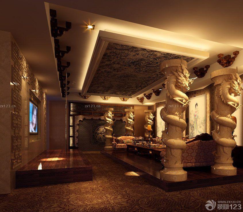 中式ktv大厅室内设计效果图片