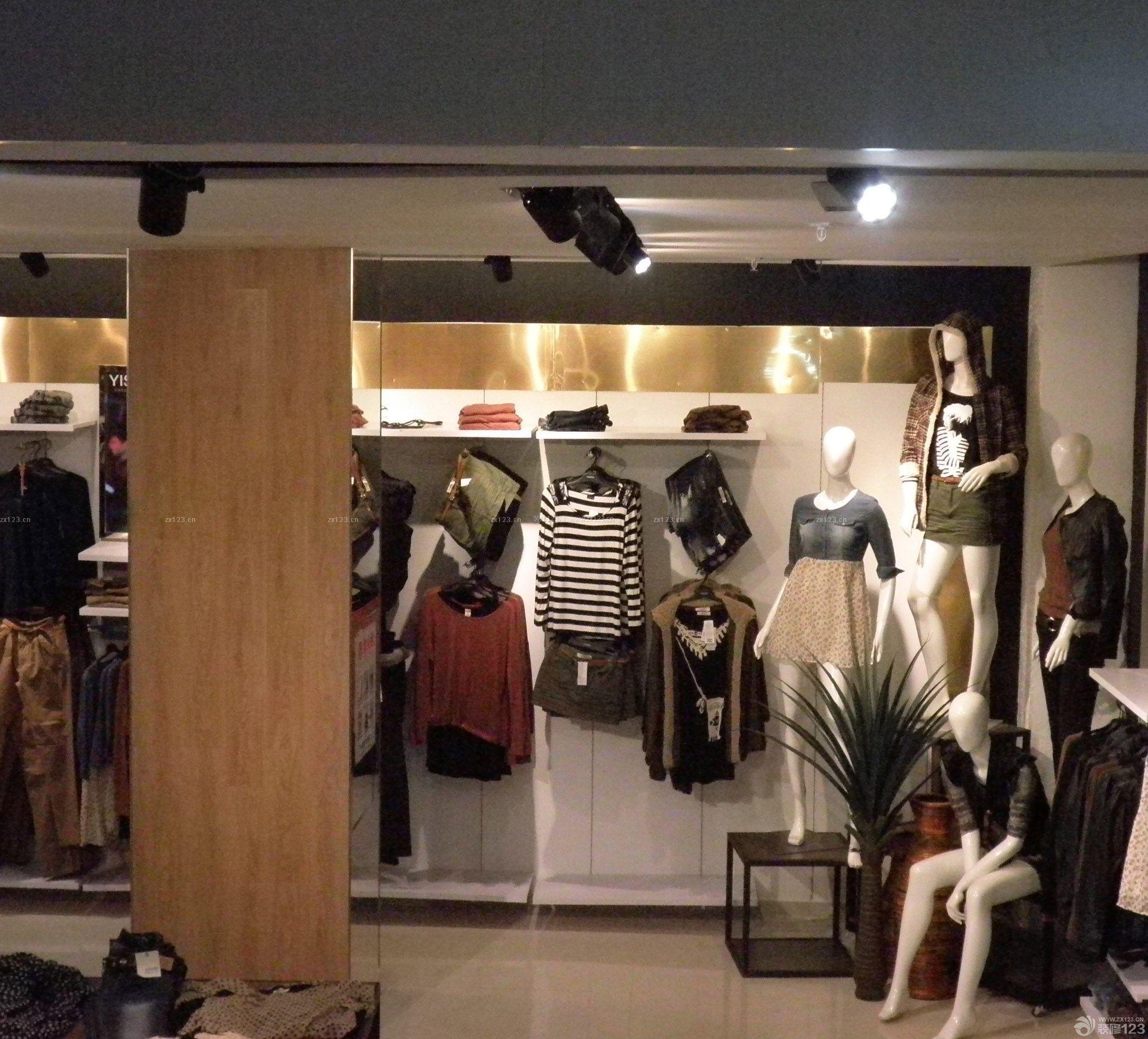 工装效果图 简约 简约风格小型服装店装修图片 提供者