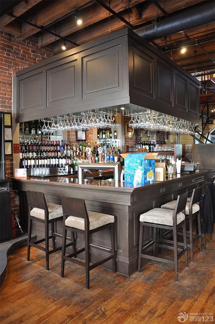美式风格小酒吧吧台装修效果图欣赏图片