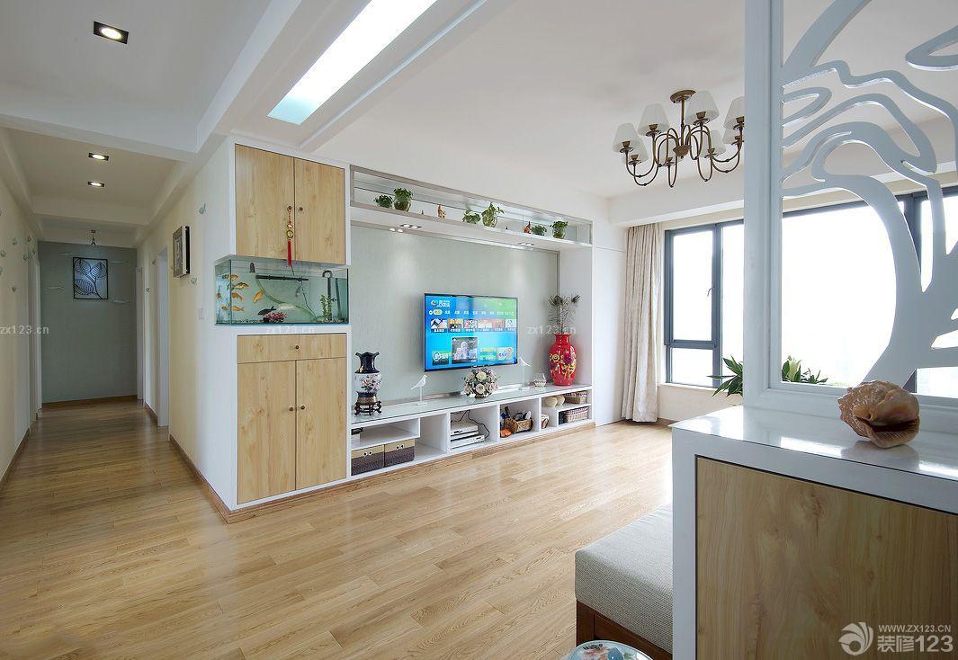 错层式住宅屏风式鱼缸玄关鱼缸效果图_装修123效果图图片