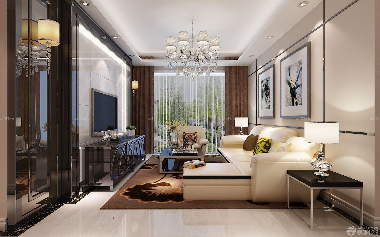 现代房子客厅转角沙发装修图片大全