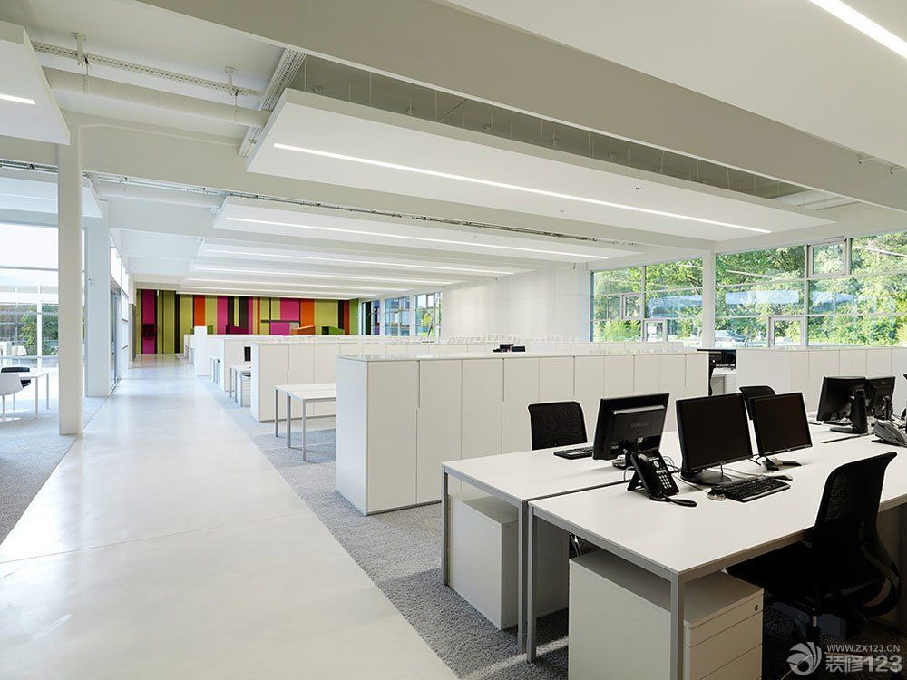 高层写字楼办公室背景墙装修设计效果图片图片