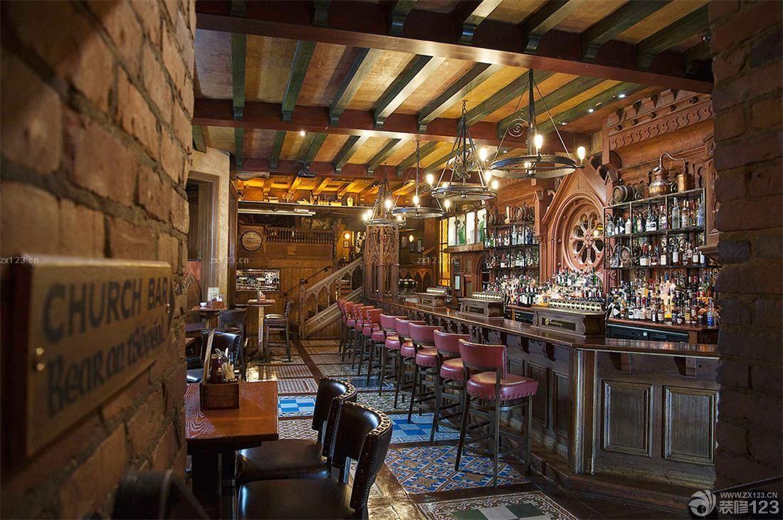 复古风格主题酒吧装修图片