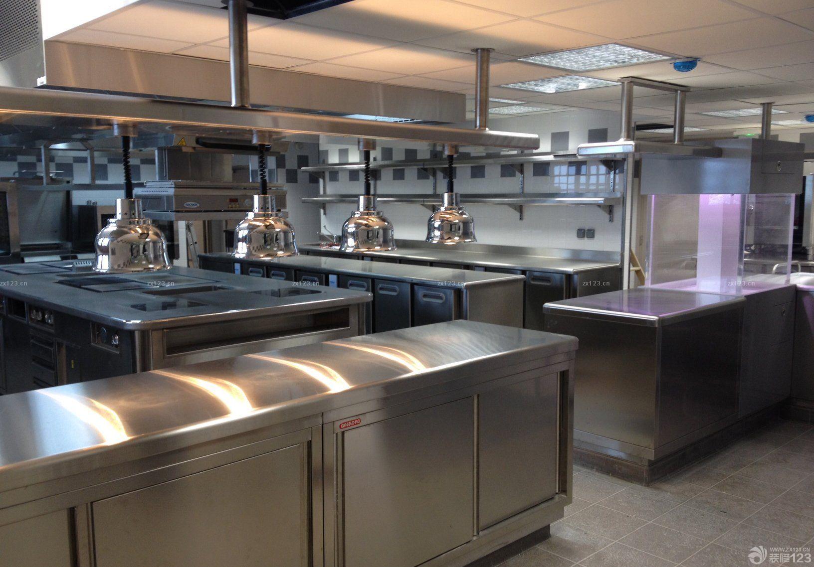 酒店厨房厨房灯具设计效果图片