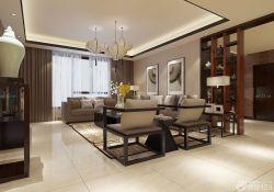 簡約新中式客廳博古架裝修效果圖片