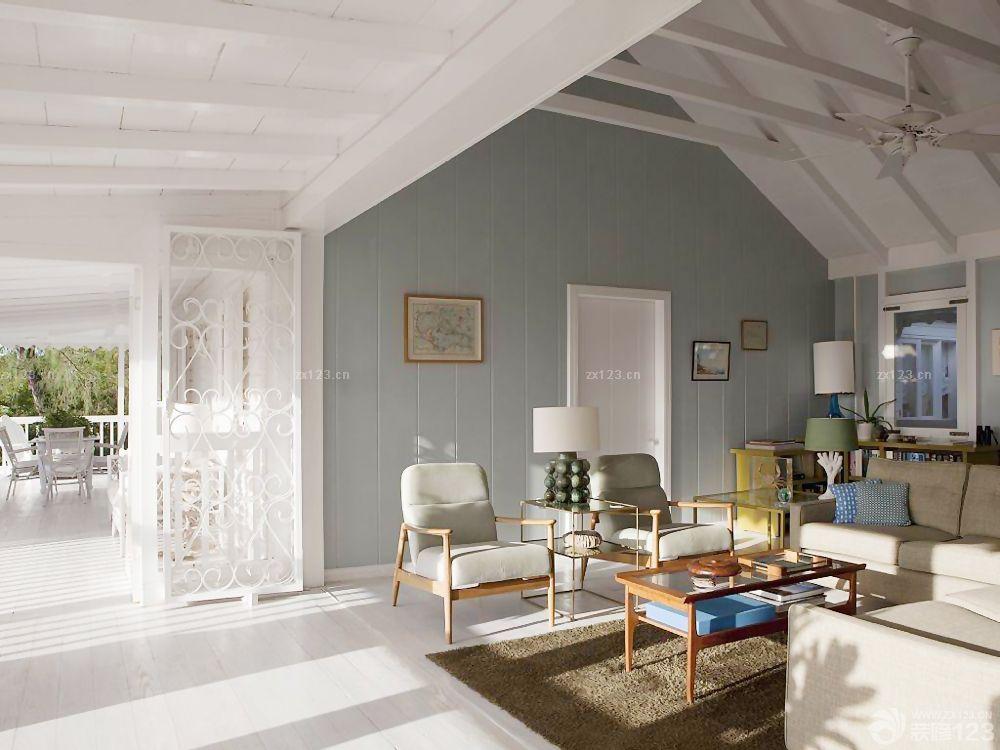 客厅房顶石膏板吊顶装修效果图