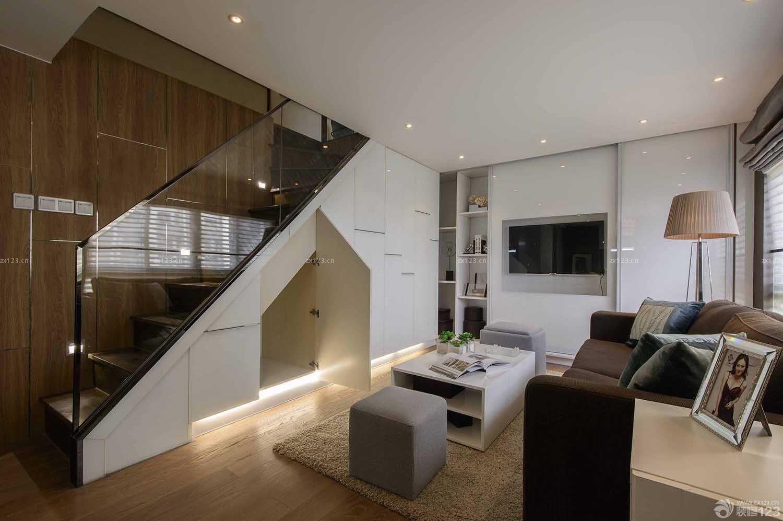 现代欧式风格阁楼楼梯间设计装修图