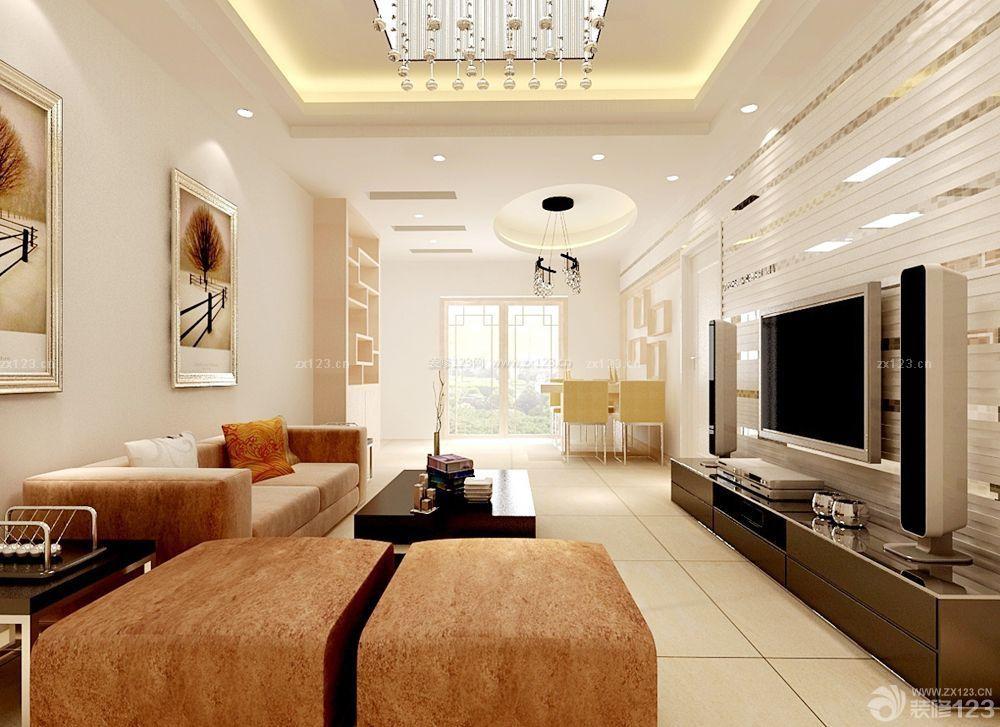 客厅过道吊顶筒灯装修效果图