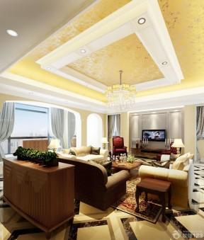 客厅房顶装修效果图 客厅吊顶装饰图片