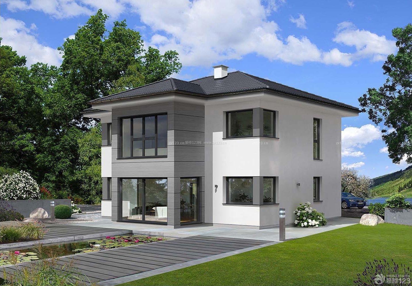 小美式风格房子外观设计装修图片图片