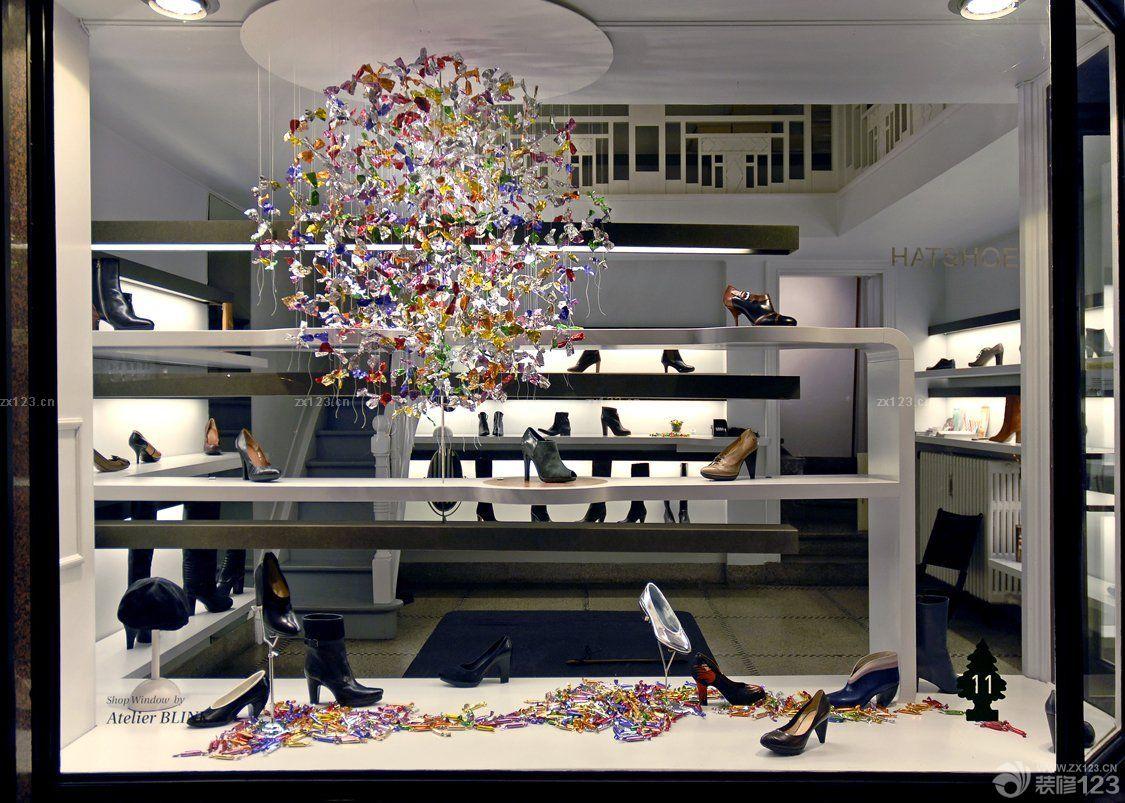 普通鞋店橱窗设计装修图