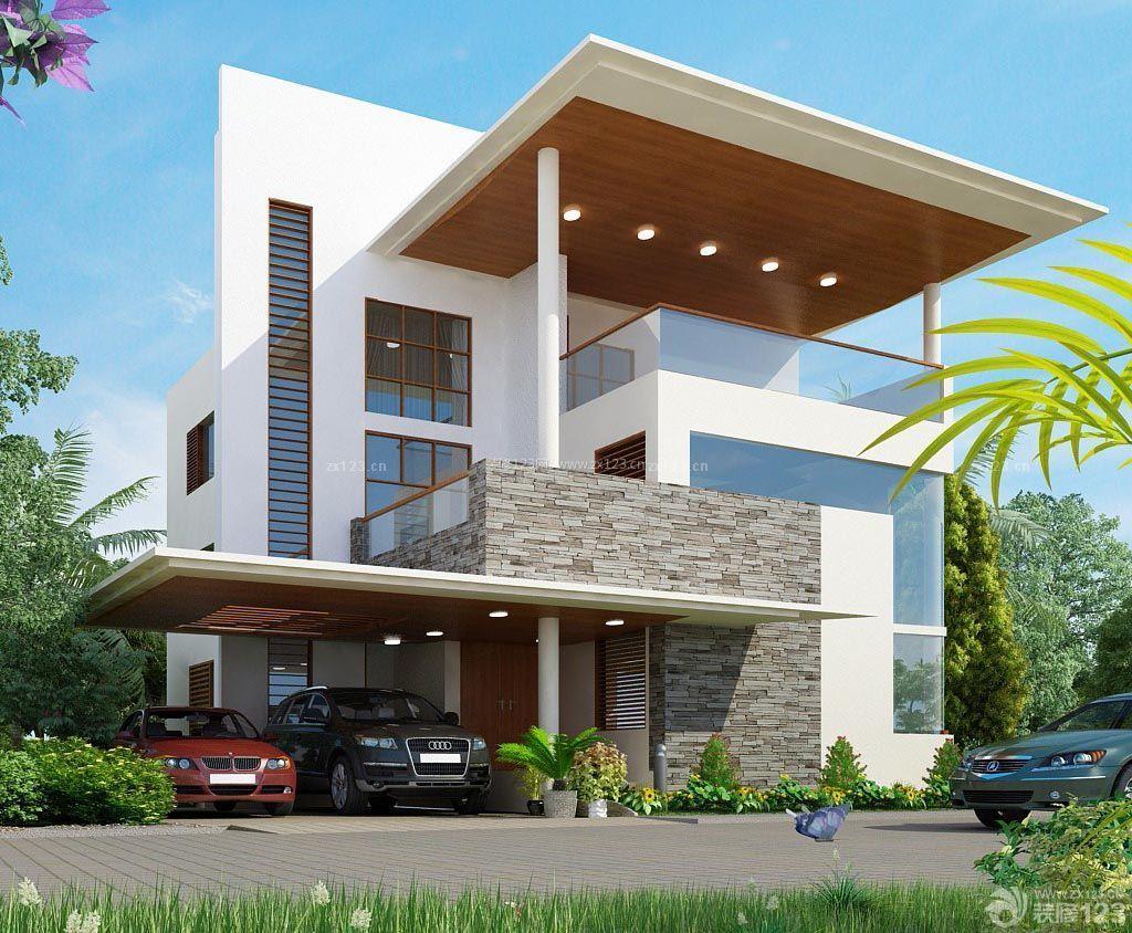 美式设计风格房子外观设计图片_装修123效果图