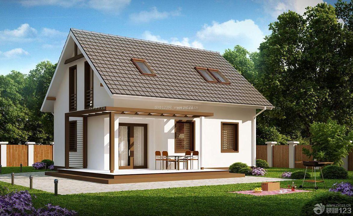 美式迷你小户型房子外观设计装修效果图片