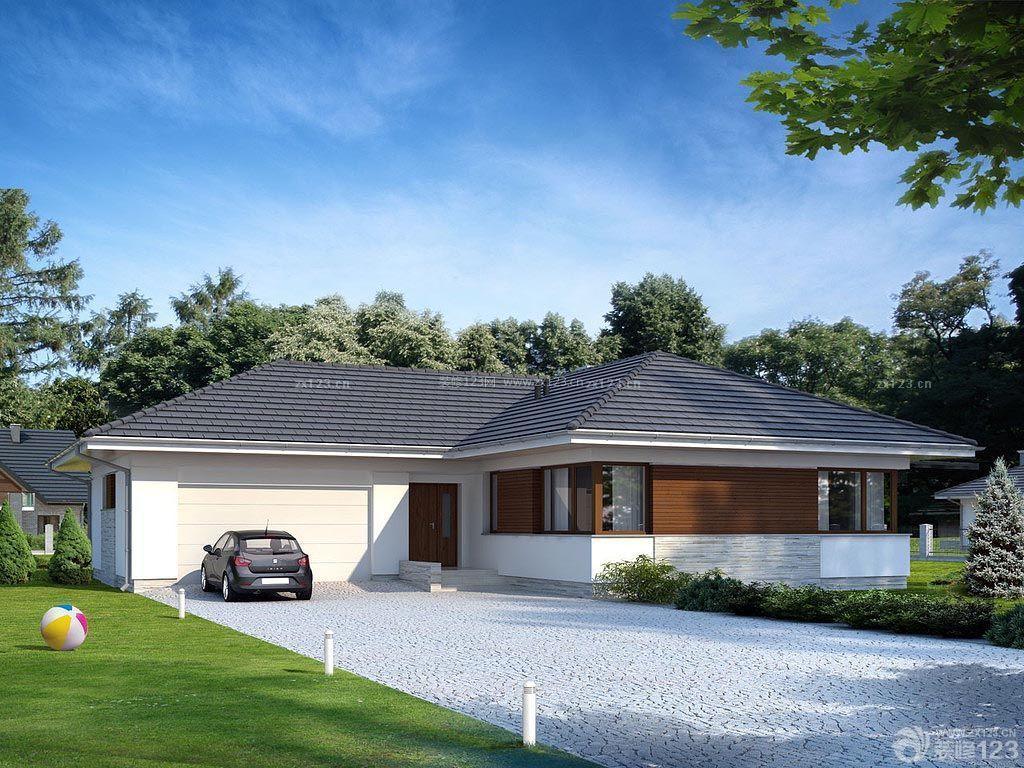 现代美式别墅屋顶外观设计图片