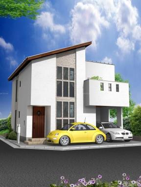 農村小別墅景觀圖 現代農村房屋外觀設計