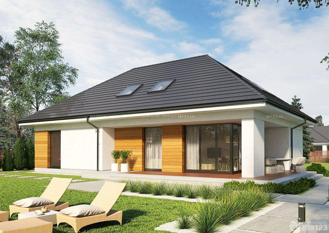 美式自建房屋外观设计效果图