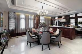 新房裝潢設計樣板房 廚房餐廳隔斷
