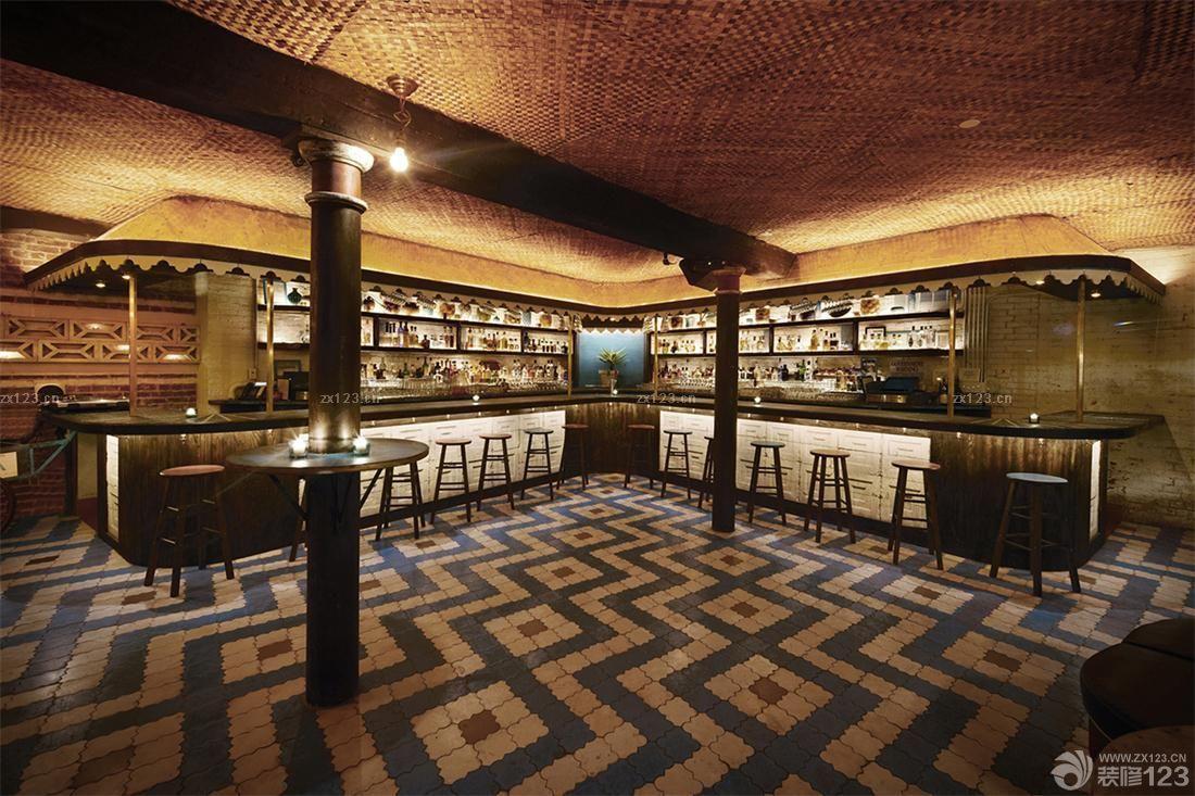 工业loft风格酒吧装修实木地板贴图大全