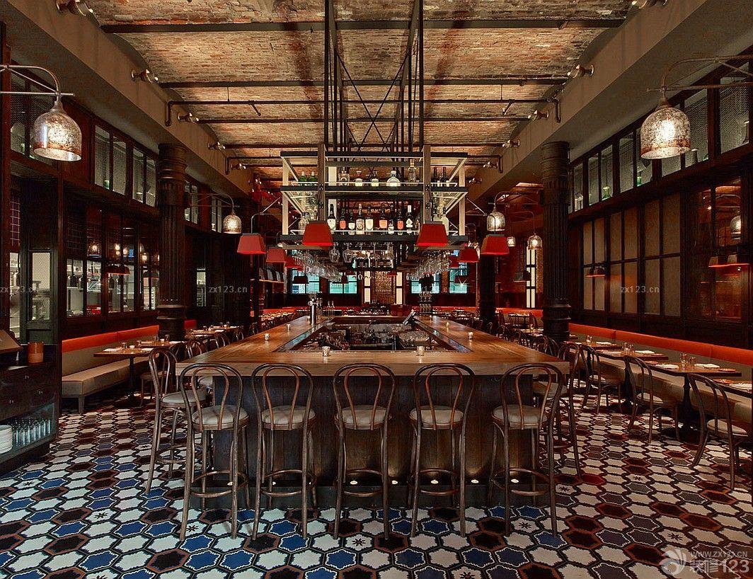 温馨工业loft风格酒吧装修实木地板贴图欣赏