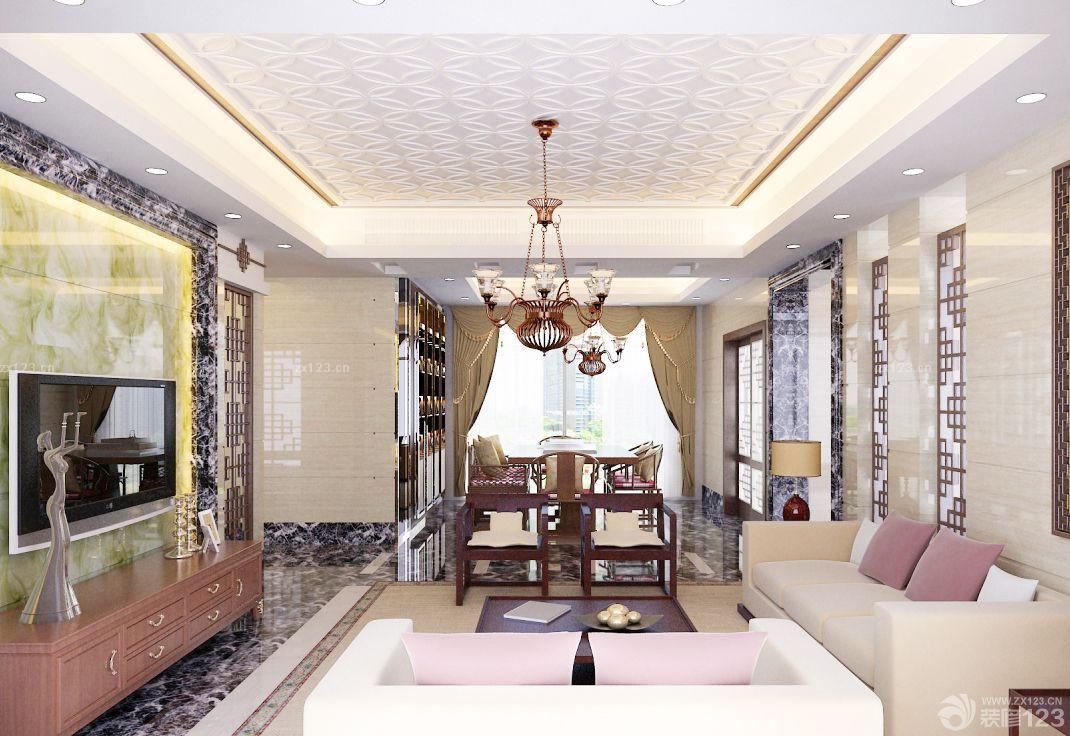 套房客厅吊灯装修效果图片