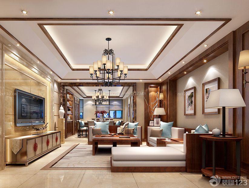 中式客厅筒灯装修效果图欣赏