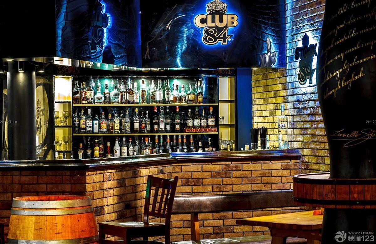 时尚台球酒吧灯光设计装修效果图