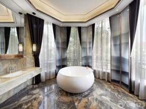 豪華別墅樣板房 衛生間地磚圖片