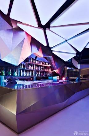 酒吧装修设计图 现代吊顶