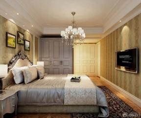 主卧壁纸效果图 欧式室内装潢装修效果图片
