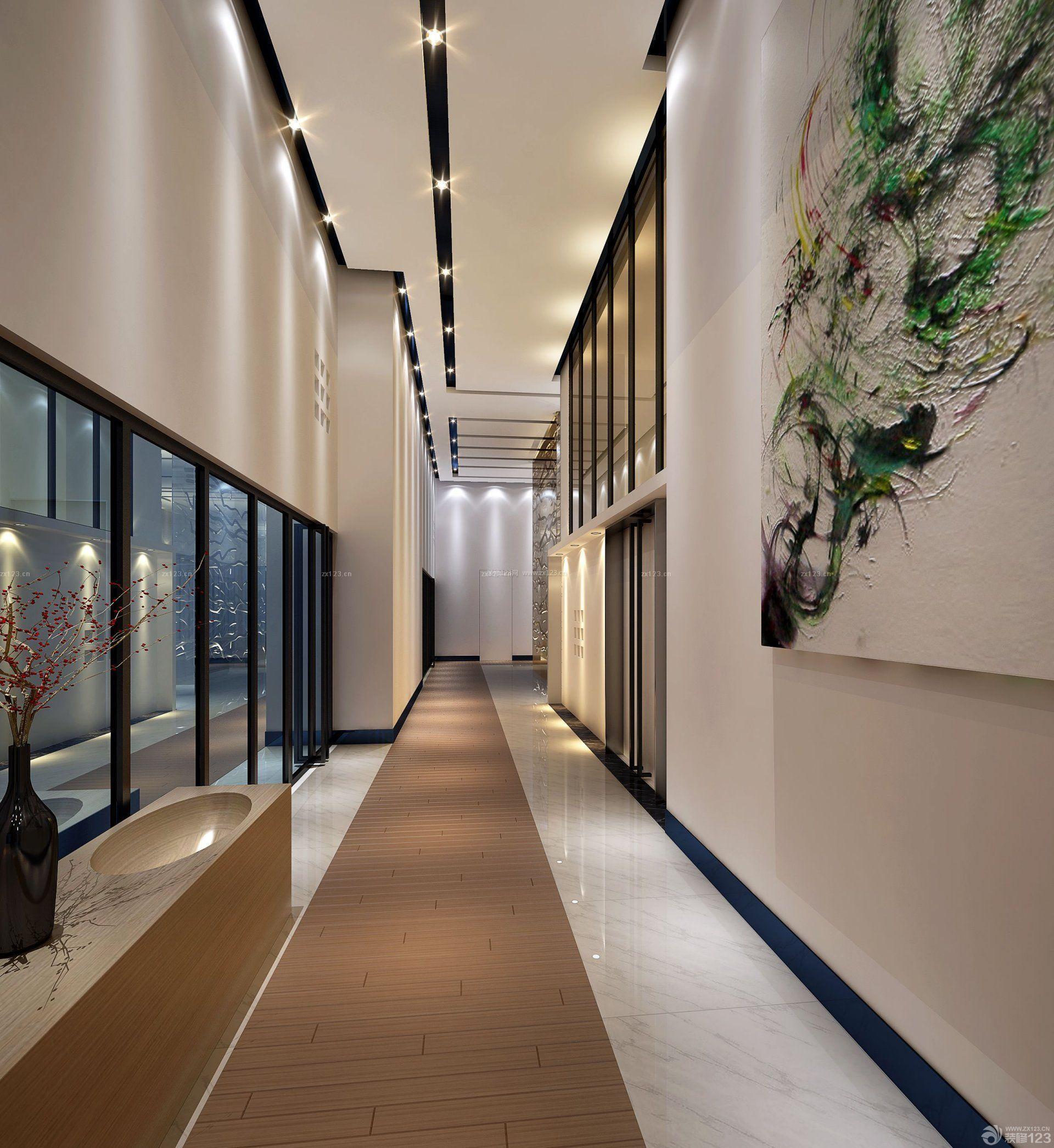 公司走廊吊顶装修效果图片