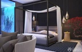 臥室裝修設計 黑白室內裝潢