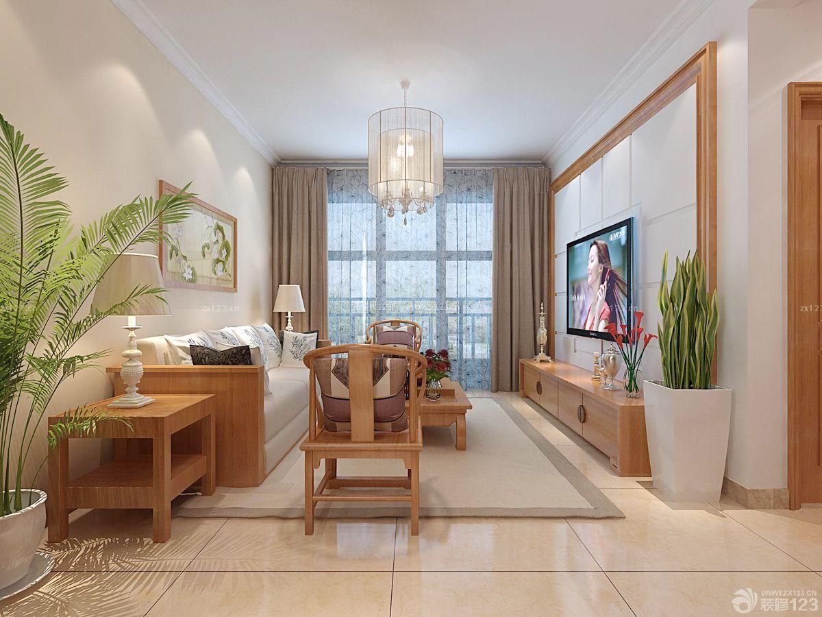 小户型客厅电视背景墙装修图图片