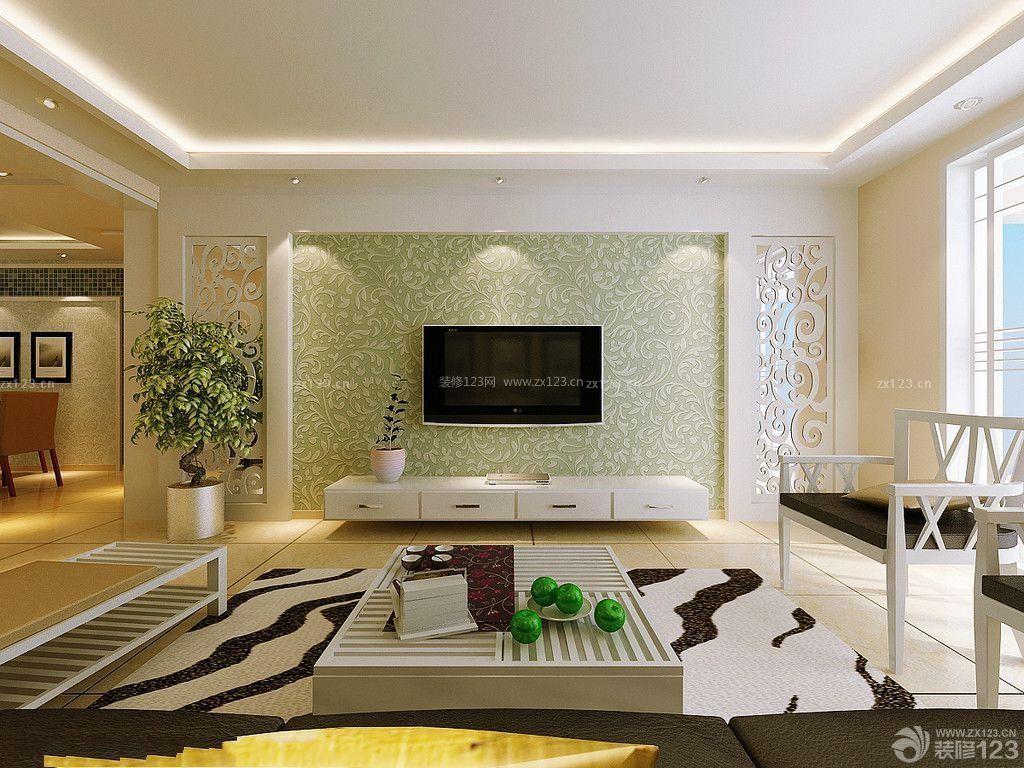 家装欧式田园客厅电视背景墙暗门效果图2015_装修123