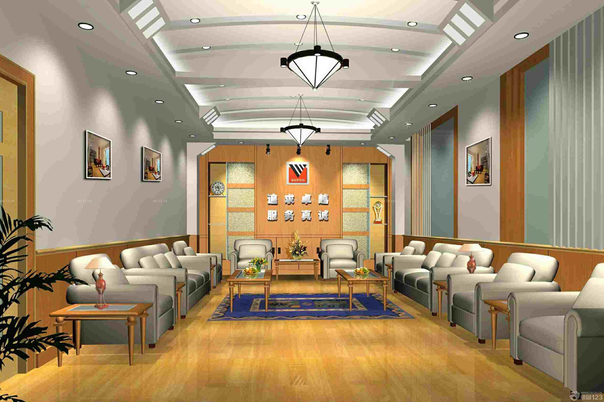 简约公司背景墙装饰装修效果图片