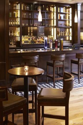 复古小酒吧设计效果图 酒架装修效果图片图片