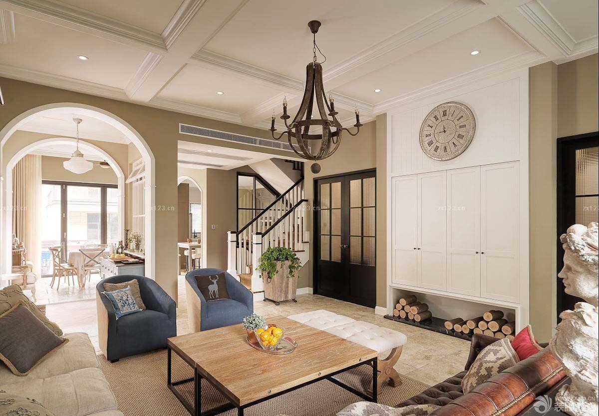123平方米欧式新古典客厅的装修图片