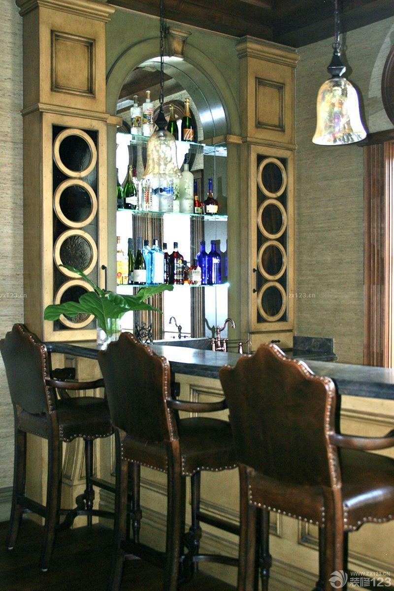 家庭酒吧台酒架装修效果图片