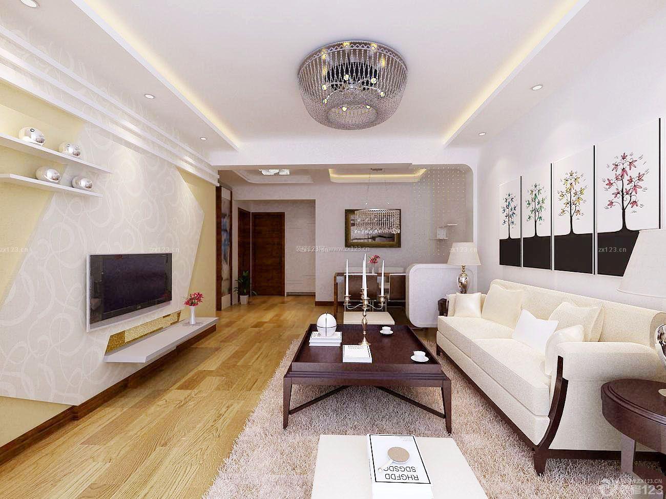 中式家装风格硅藻泥主卧背景墙效果图2015款
