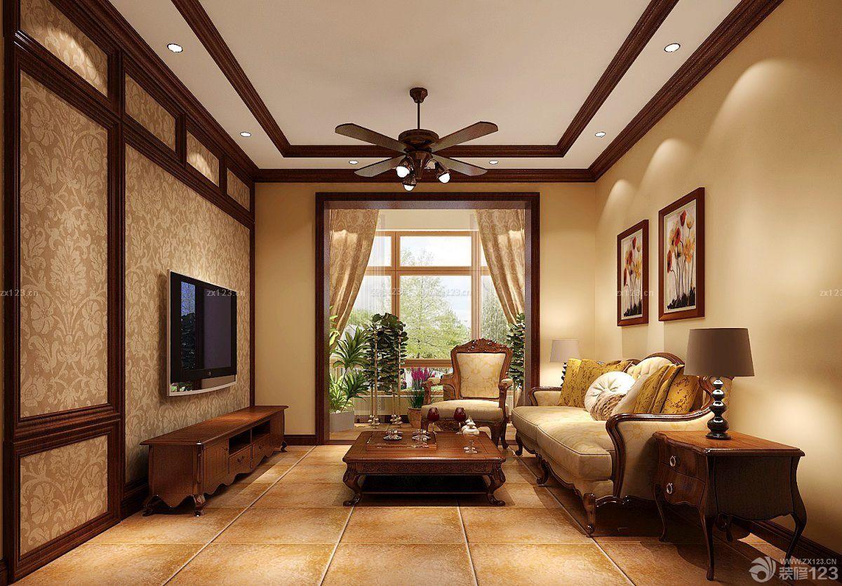 农村家居室内客厅吊顶装修效果图图片
