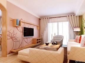 15平方客廳裝修效果圖 客廳布藝窗簾