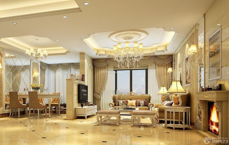家装效果图 欧式 豪华欧式客厅满贴墙砖装修设计效果图 提供者:   ←