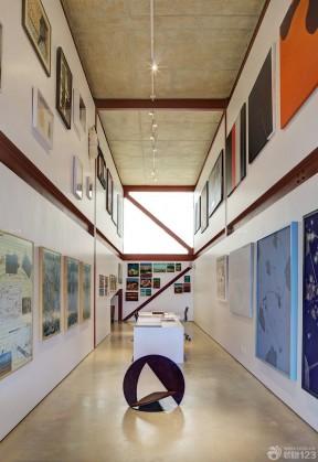 现代公司长方形办公室装饰装修效果图